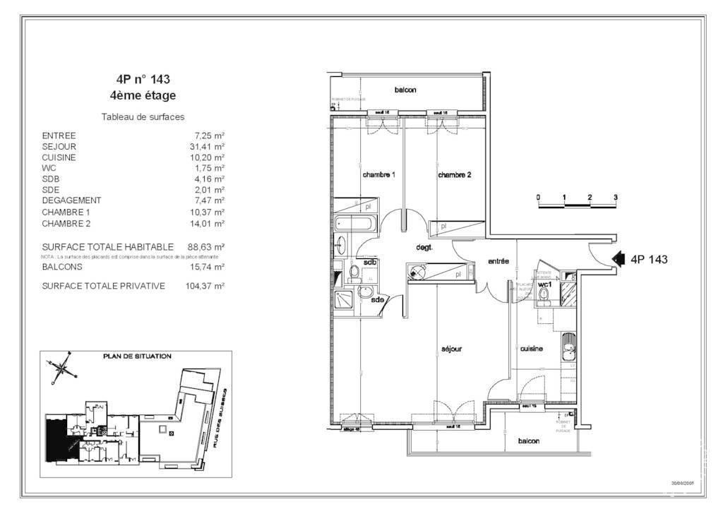 Vente Appartement Nanterre (92000) 89m² 580.000€