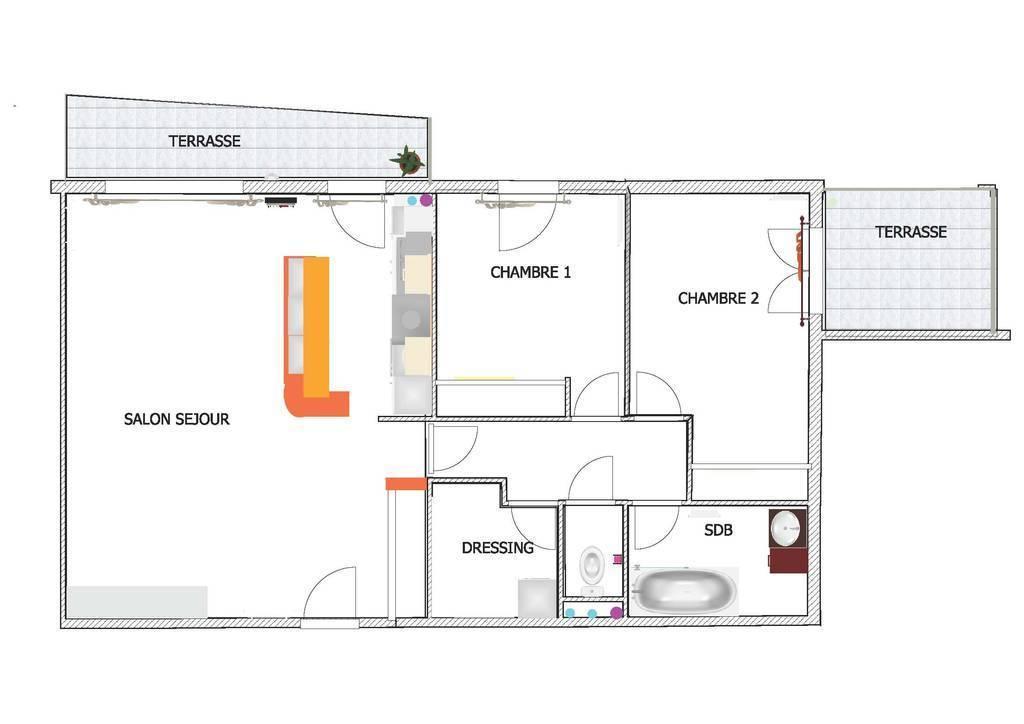 Vente Appartement Marseille 10E - T3 -  80 M2 Avec Terrasses Et Vue