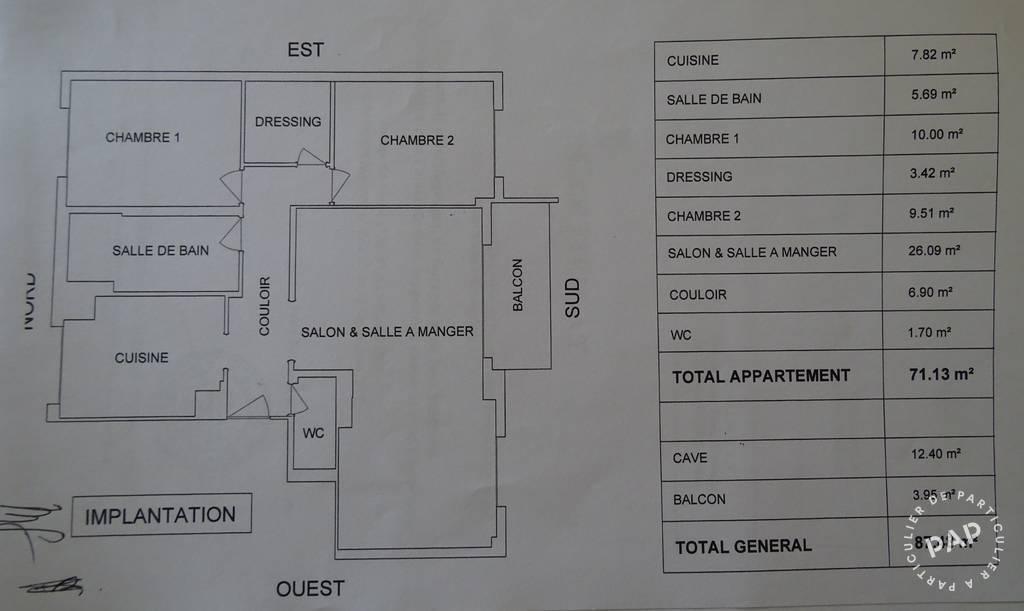Immobilier Bry-Sur-Marne (94360) 337.000€ 71m²