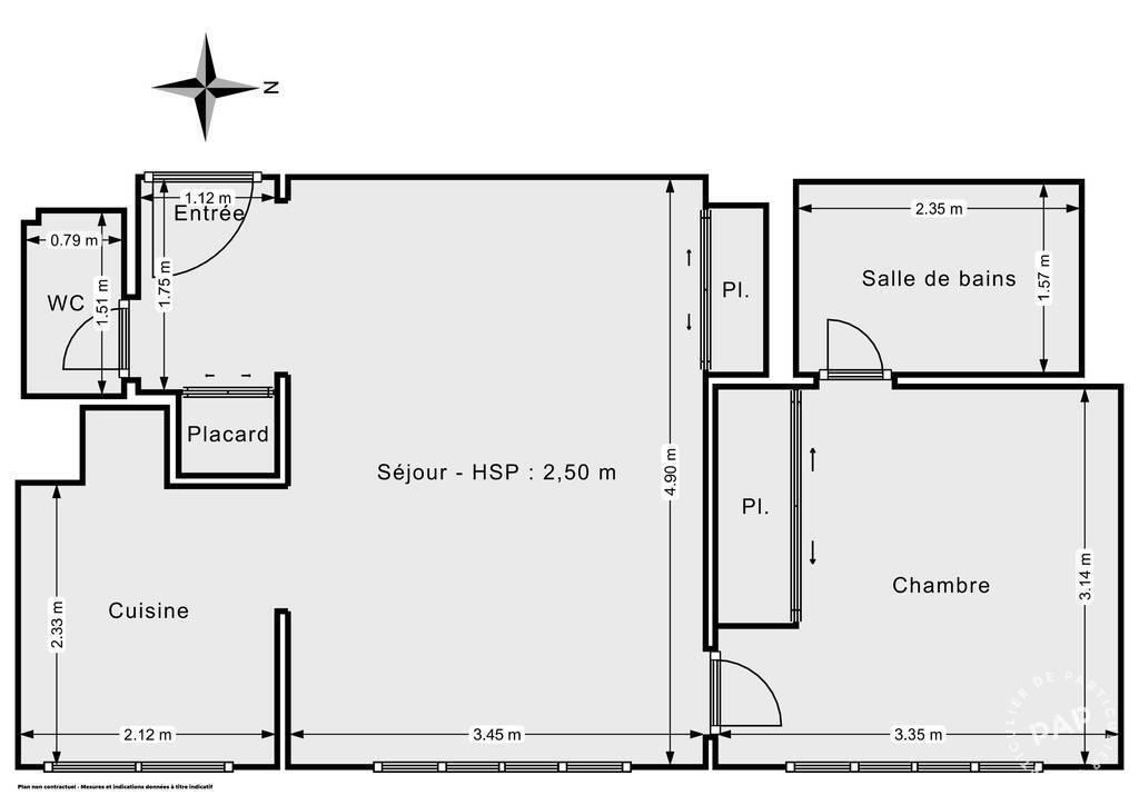 Vente Appartement Boulogne-Billancourt (92100) 43m² 430.000€