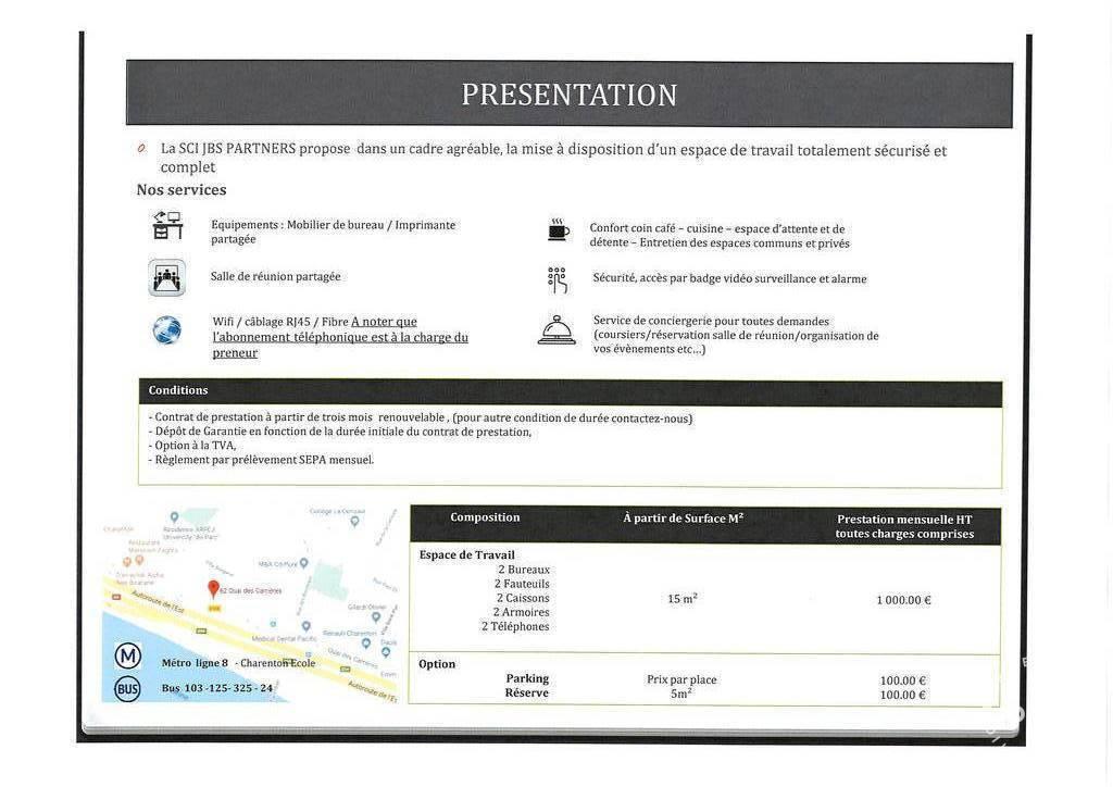 Location Bureaux et locaux professionnels Charenton-Le-Pont (94220)