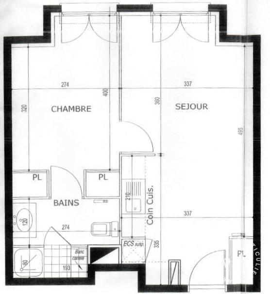 Appartement 182.000€ 39m² Chelles (77500)