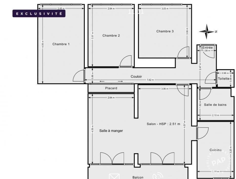 Appartement 379.000€ 80m² Lyon 8E (69008)