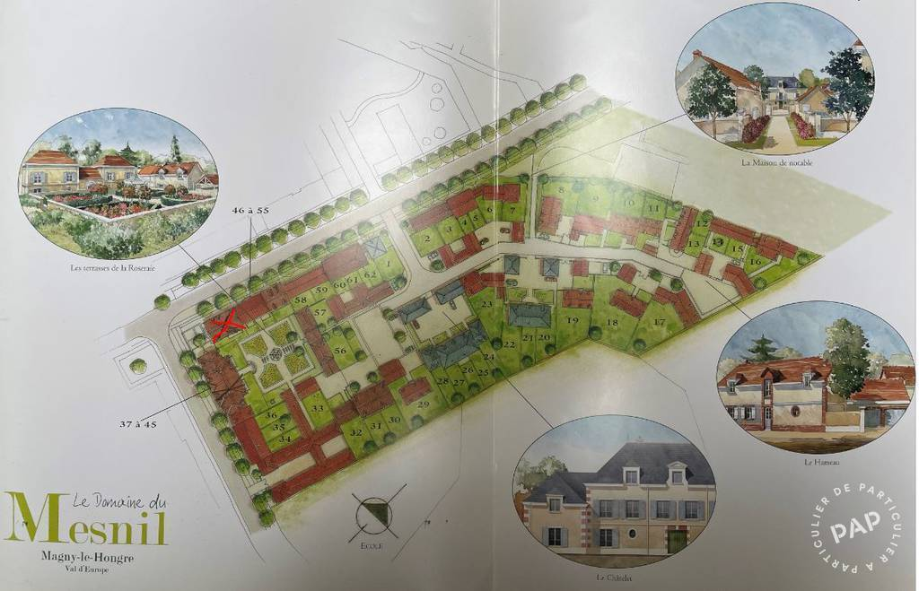 Immobilier Magny-Le-Hongre (77700) 260.000€ 61m²