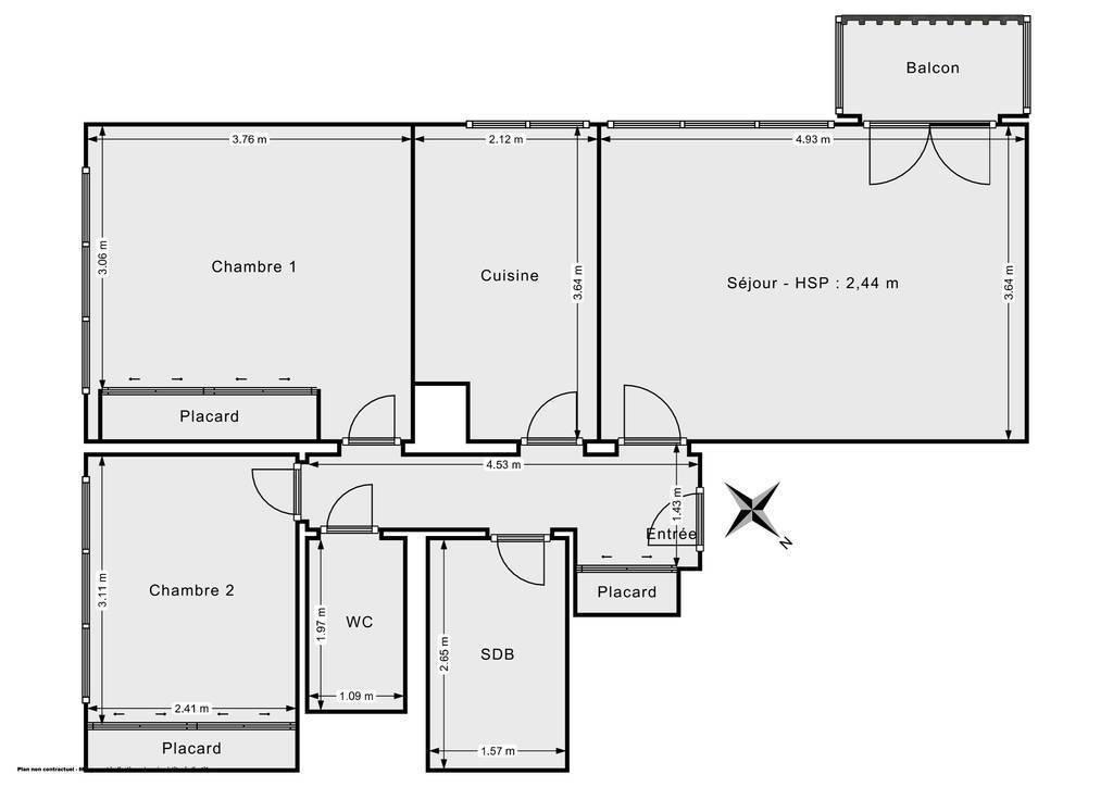 Vente Appartement Bagnolet (93170) 65m² 330.000€