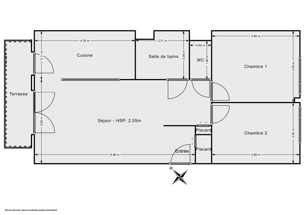 Vente Appartement Poissy (78300) 62m² 239.000€