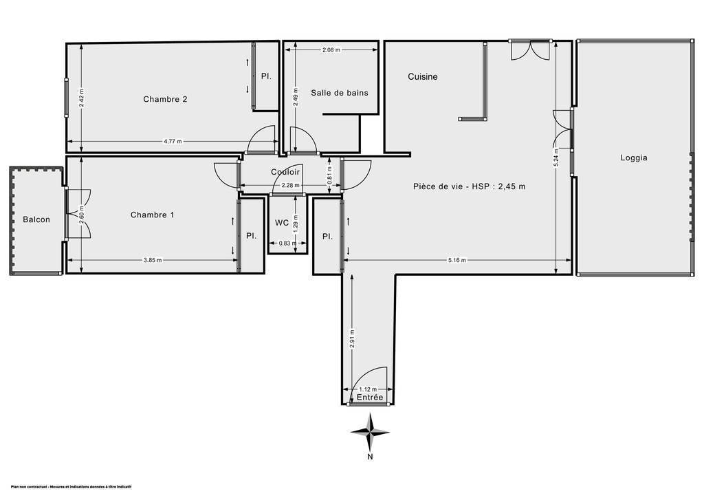 Vente Appartement Angoulême (16000) 63m² 110.000€