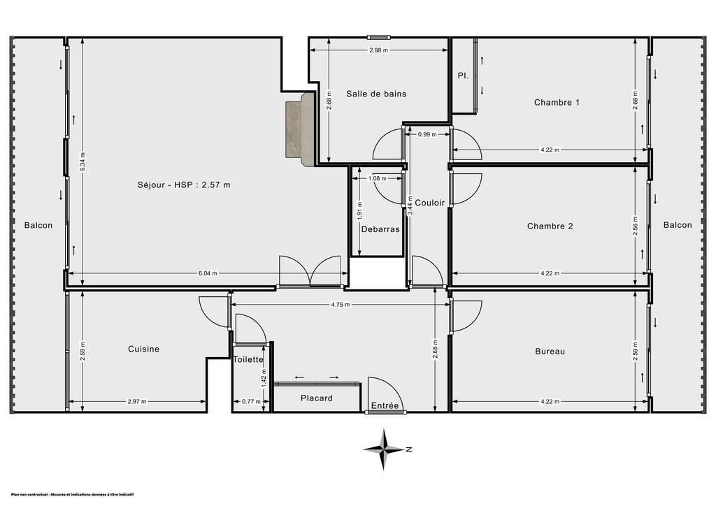 Vente Appartement Arcueil (94110) 93m² 495.000€