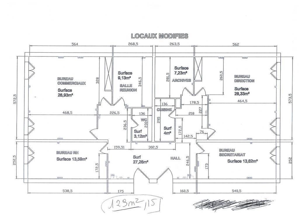 Location Bureaux et locaux professionnels Saint-Maur-Des-Fossés (94100) 130m² 2.750€