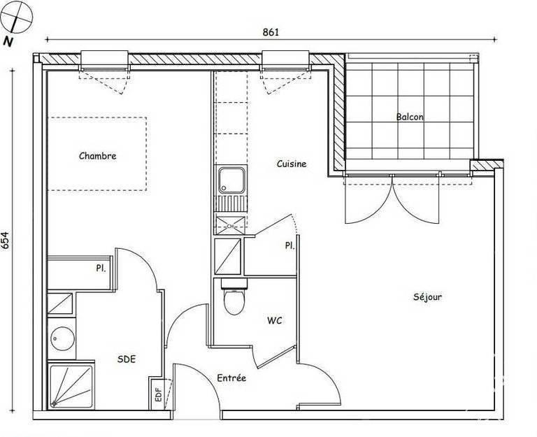 Vente Appartement 48m²
