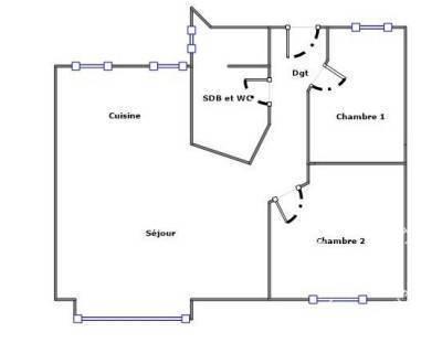 Appartement 670.000€ 63m² Paris 19E (75019)