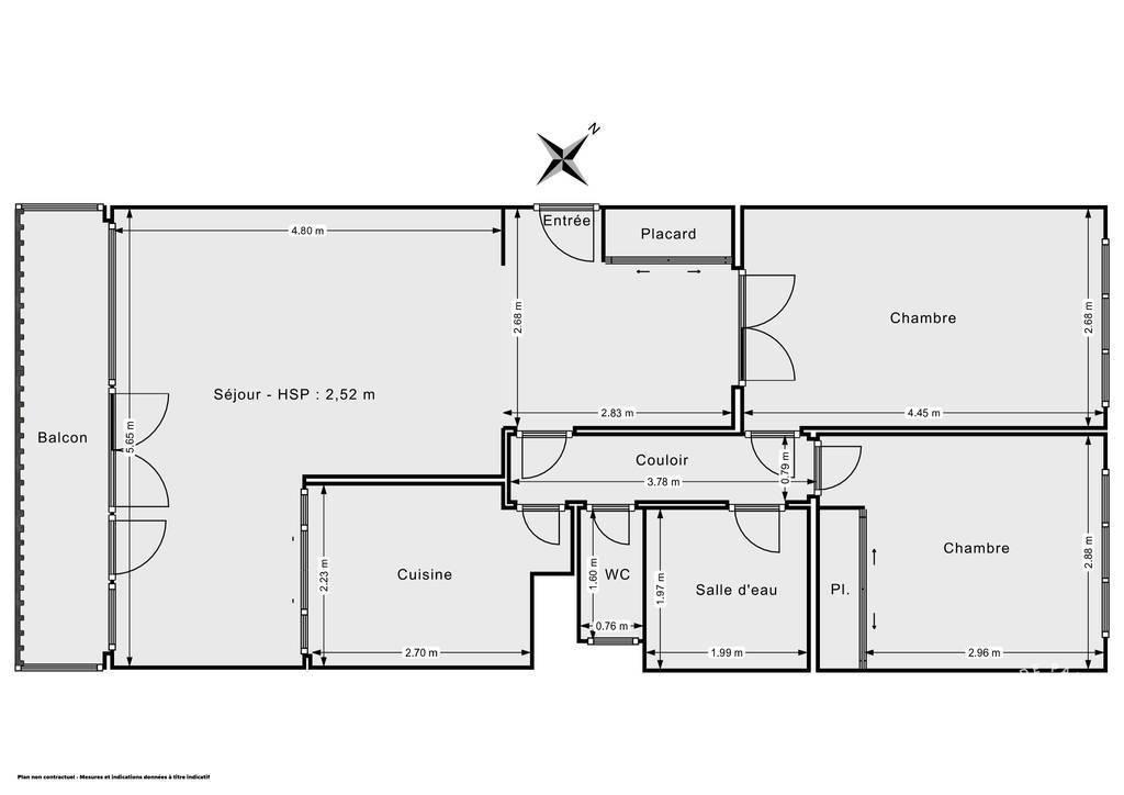 Vente Appartement Chevilly-Larue (94550) 67m² 335.000€