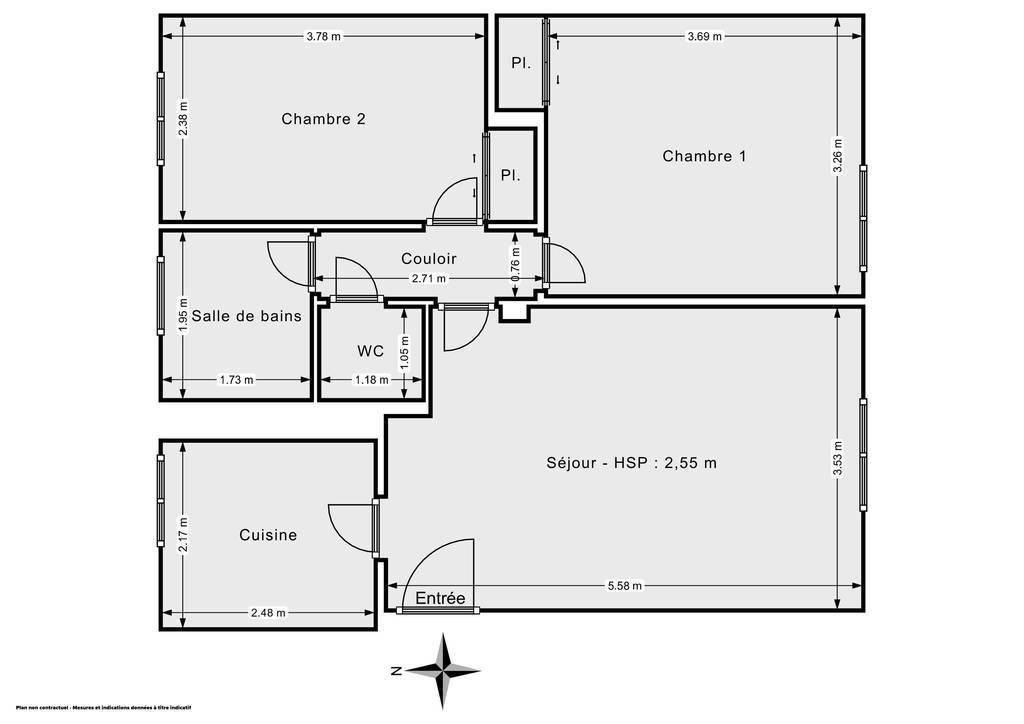 Vente Appartement Garges-Lès-Gonesse (95140) 54m² 140.000€