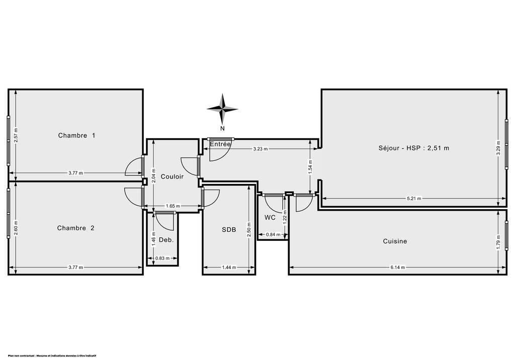 Vente Appartement Argenteuil (95100) 64m² 170.000€
