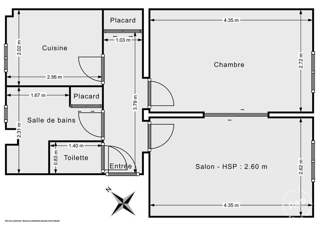 Vente Appartement Paris 20E (75020) 38m² 420.000€