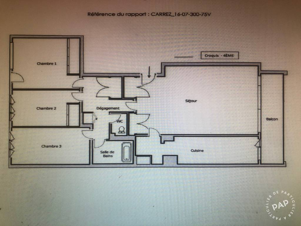 Appartement 850.000€ 90m² Paris 14E (75014)