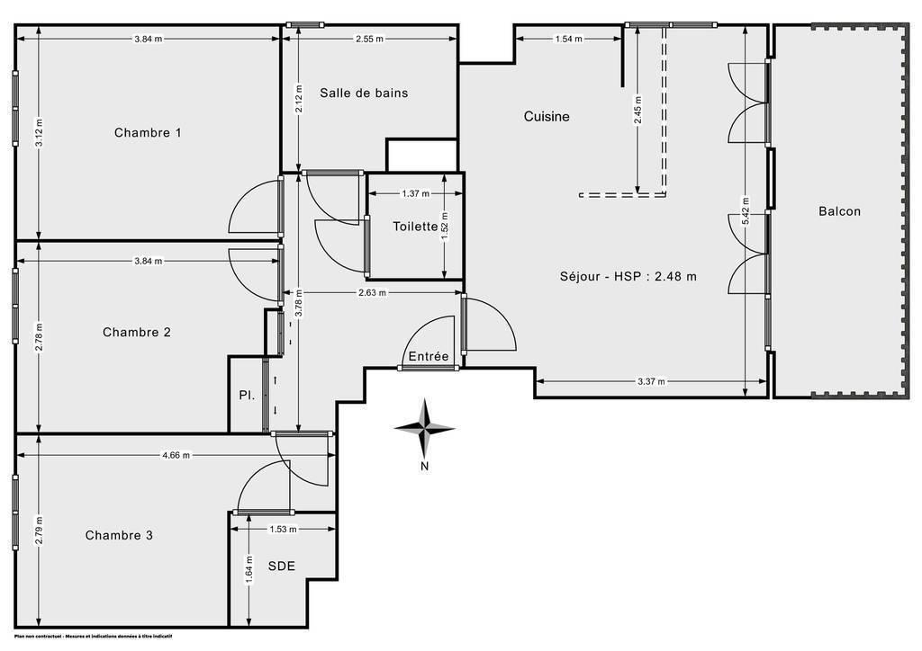Vente Appartement Lieusaint (77127) 72m² 254.900€