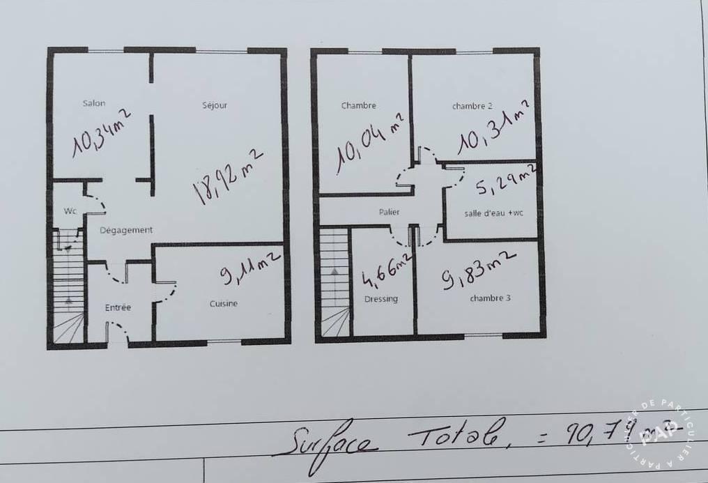 Vente Maison Brétigny-Sur-Orge (91220) 90m² 270.000€