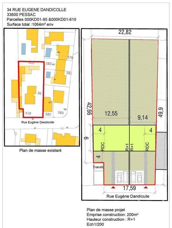 Vente immobilier 600.000€ Pessac (33600)