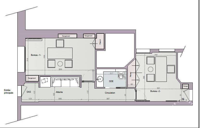 Bureaux, local professionnel 1.800€ 30m² Paris 16E (75016)
