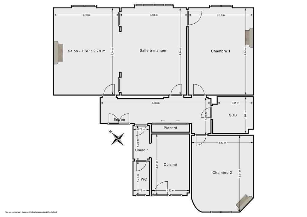 Vente Appartement Paris 15E (75015) 80m² 890.000€