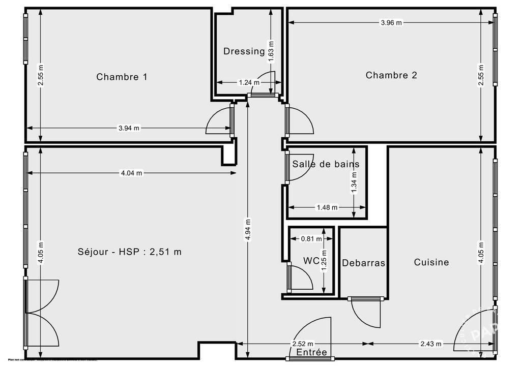 Vente Appartement Saint-Cyr-Sur-Loire (37540) 58m² 117.500€