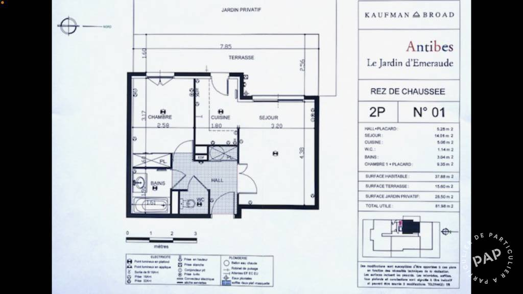 Immobilier Antibes (06600) 232.000€ 38m²