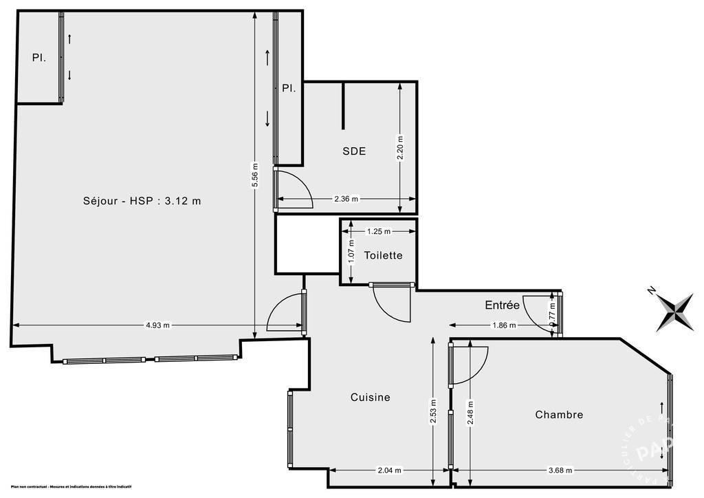 Vente Appartement Puteaux (92800) 50m² 365.000€
