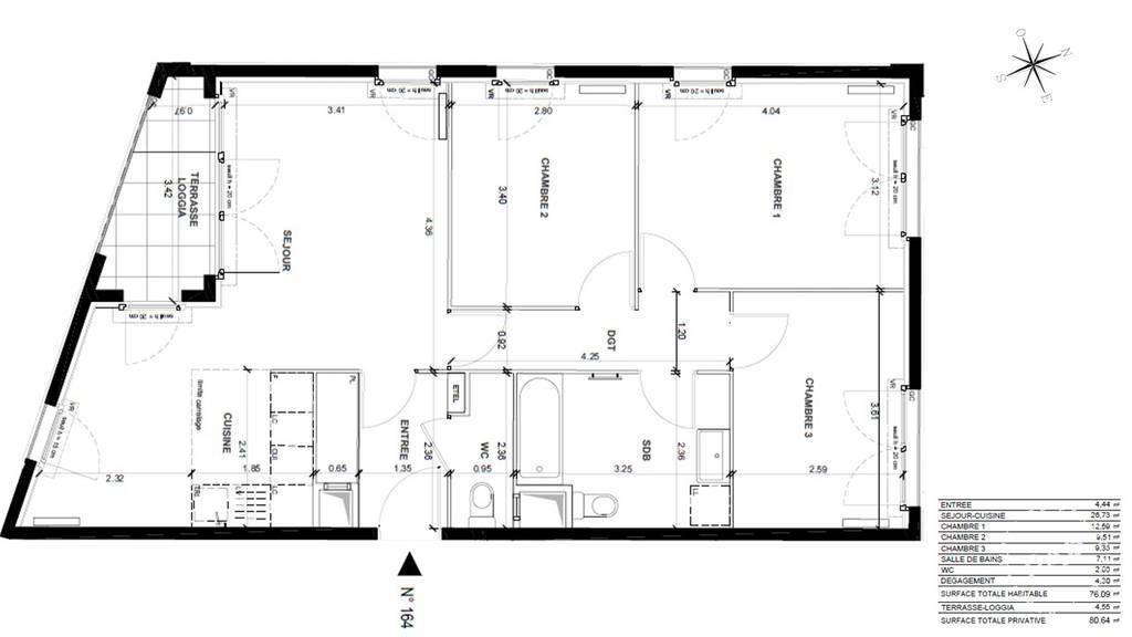 Vente Appartement Pantin (93500) 81m² 598.000€