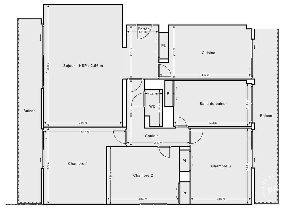 Vente Appartement Montpellier (34070) 92m² 235.000€