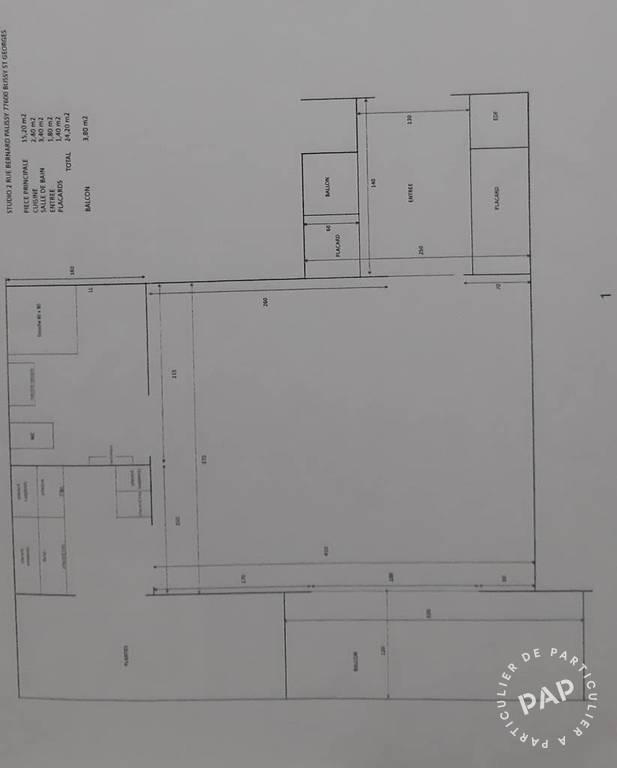 Appartement 145.000€ 24m² Bussy-Saint-Georges (77600)