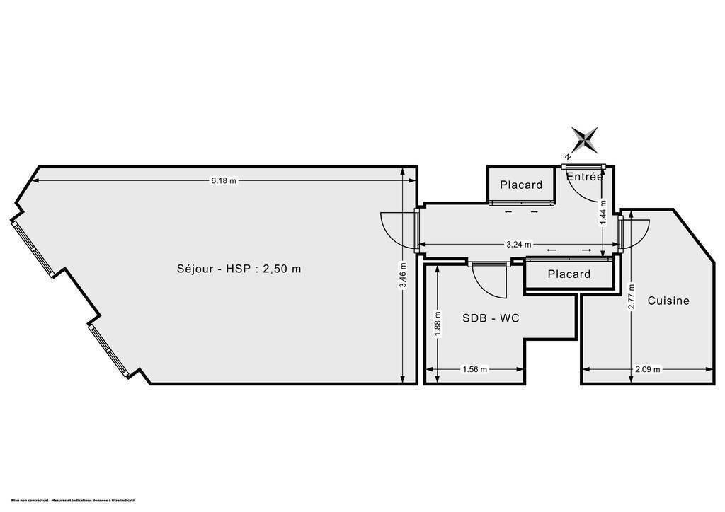 Vente Appartement Paris 17E, Entre Neuilly Et Paris 8E 32m² 375.000€