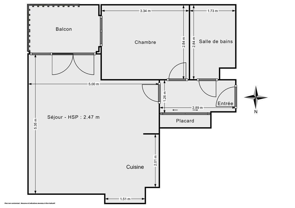 Vente Appartement Noisy-Le-Grand (93160) 45m² 205.000€