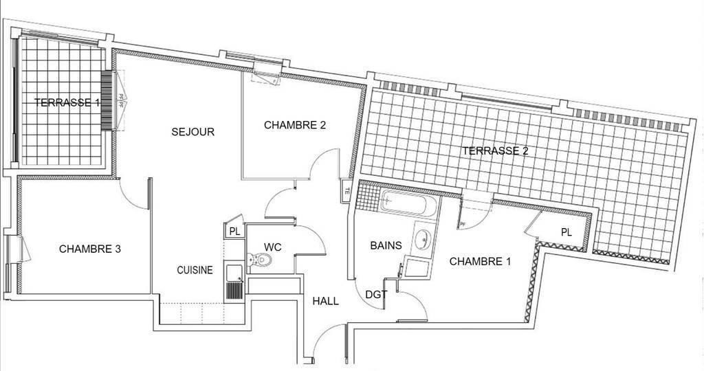 Vente immobilier 250.000€ - 2 Terrasses Et Parking(S)