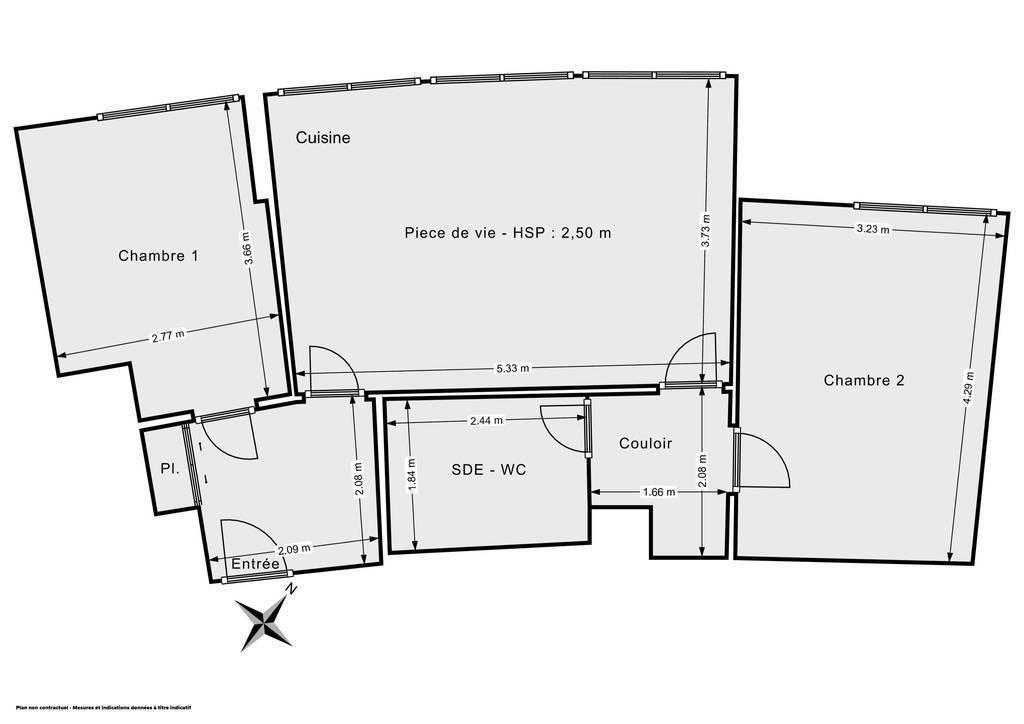 Vente Appartement Courbevoie (92400) 57m² 425.000€