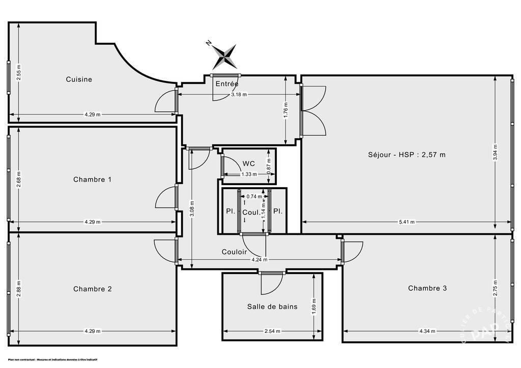 Vente Appartement Paris 15E (75015) 84m² 860.000€