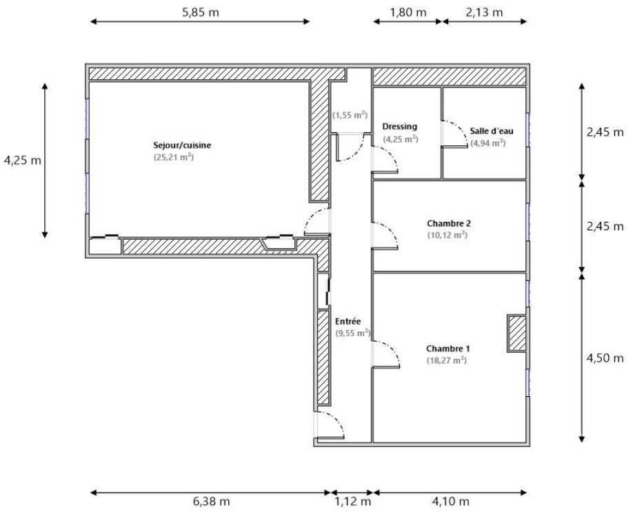 Vente Appartement Nice (06100) 74m² 270.000€