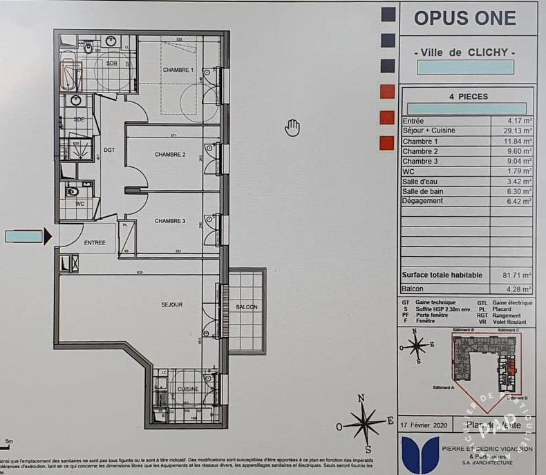 Vente immobilier 660.000€ Clichy (92110)