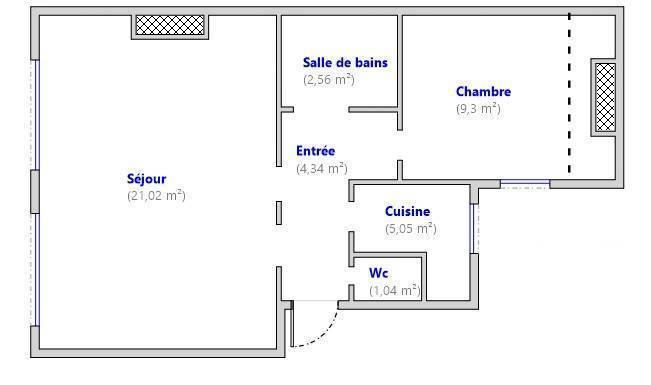 Vente Paris 17E 45m²